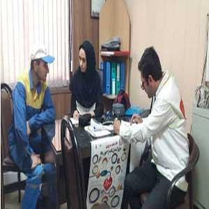 تست سلامت پرسنل در اداره گاز